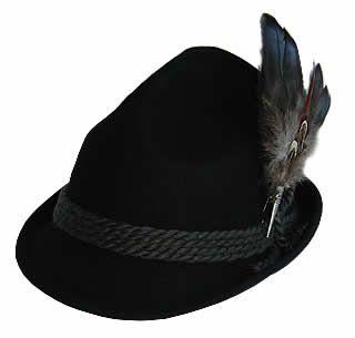 ac5b8c714c3ece Alpine Bavarian Hat - Black in 2019 | clothing | Hats, Hats for men ...