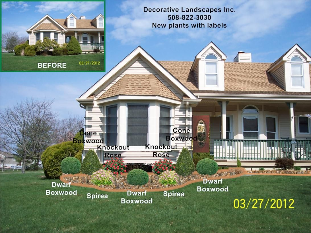 Front yard landscape designs in ma decorative landscapes for Window ideas for front of house