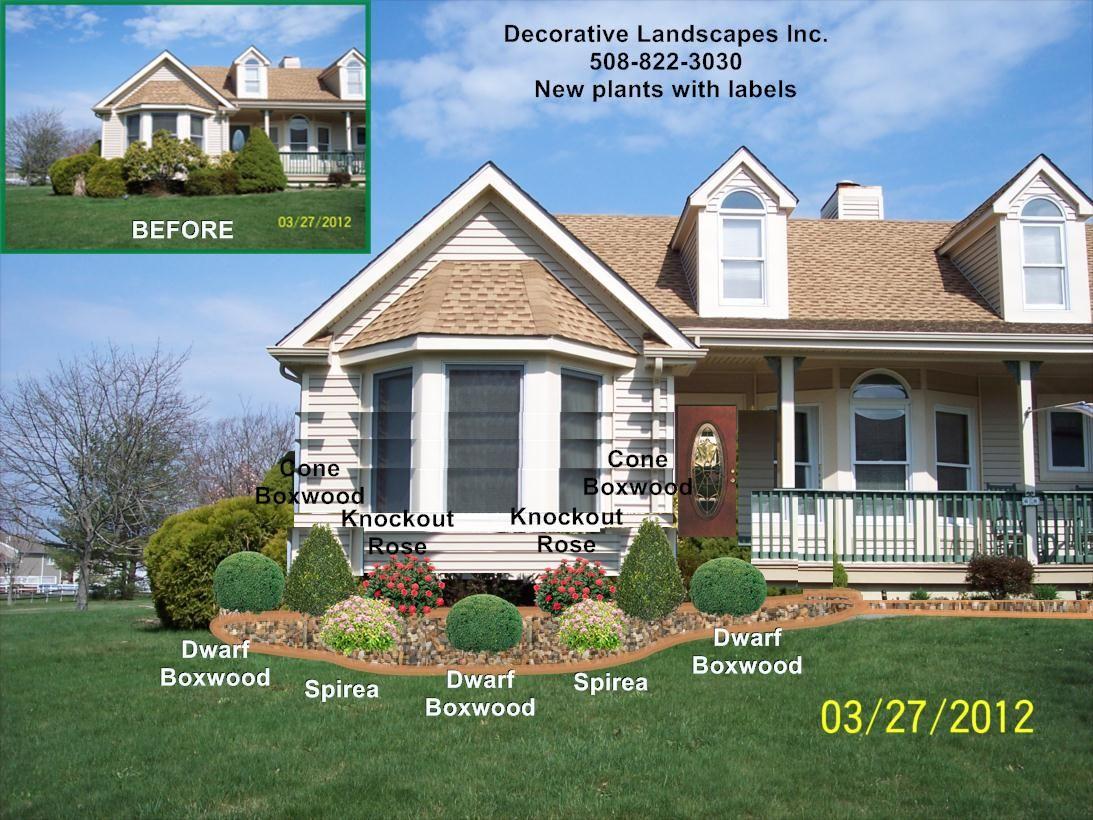 Front Yard Landscape Design Ma Front House Landscaping Front