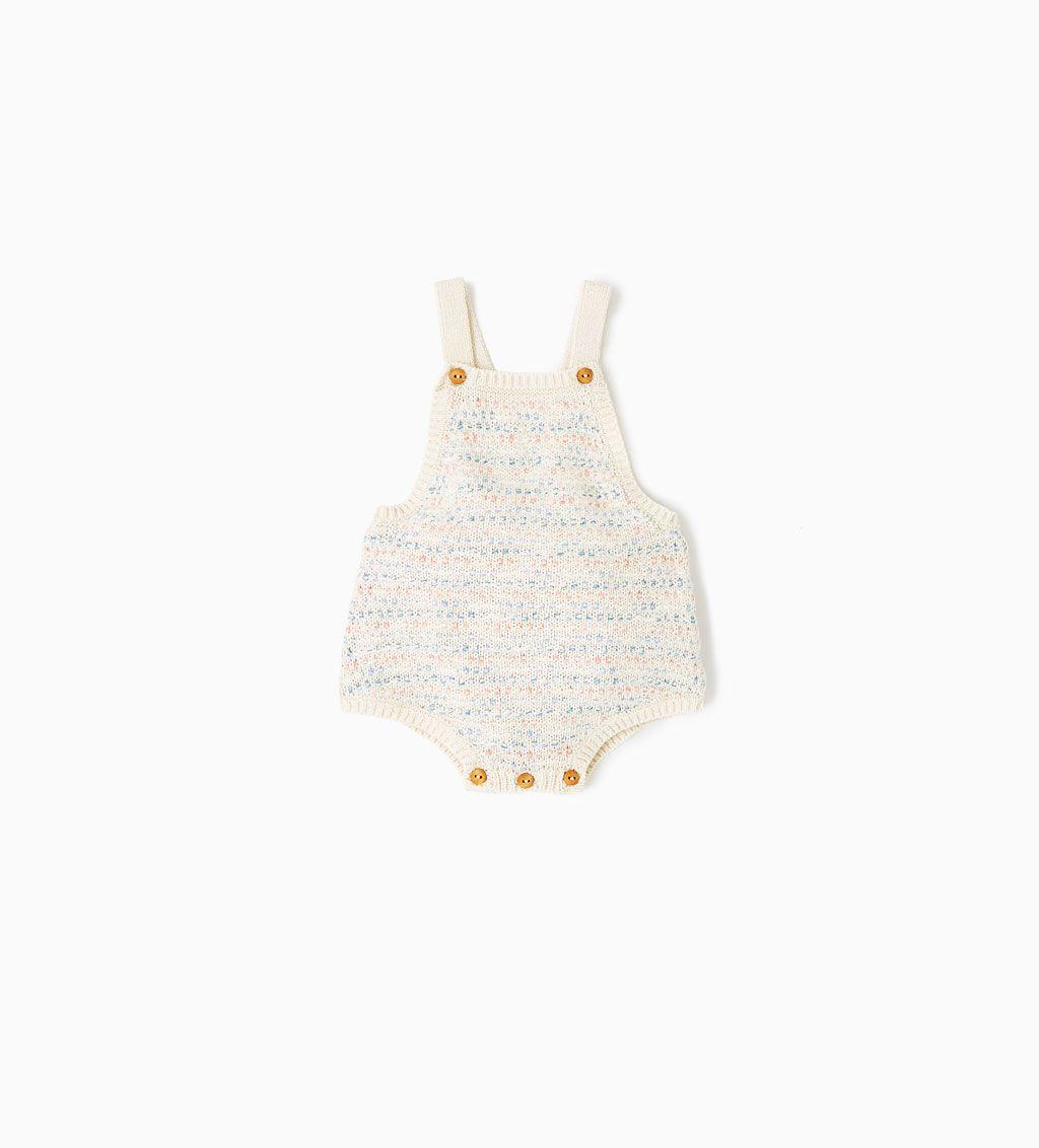 818d4bc9 SHORT KNIT ROMPER SUIT-DRESSES AND ROMPER SUITS-MINI | 0 ...