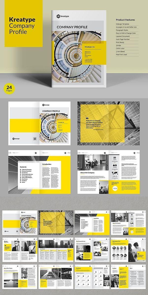 Kreatype Company Profile   Kreatype Company Profile Template #brochure #template #indesign #template