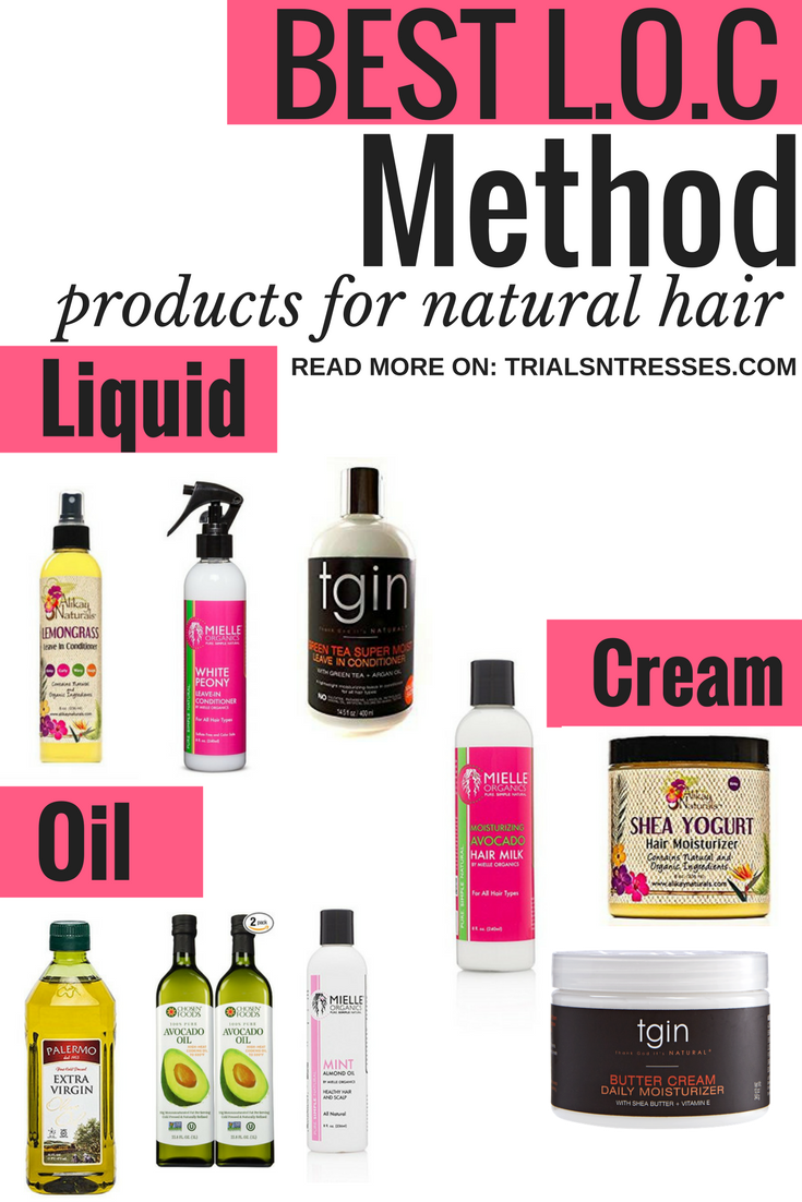 Best L.O.C Method Products For Natural Hair - Trials N Tresses