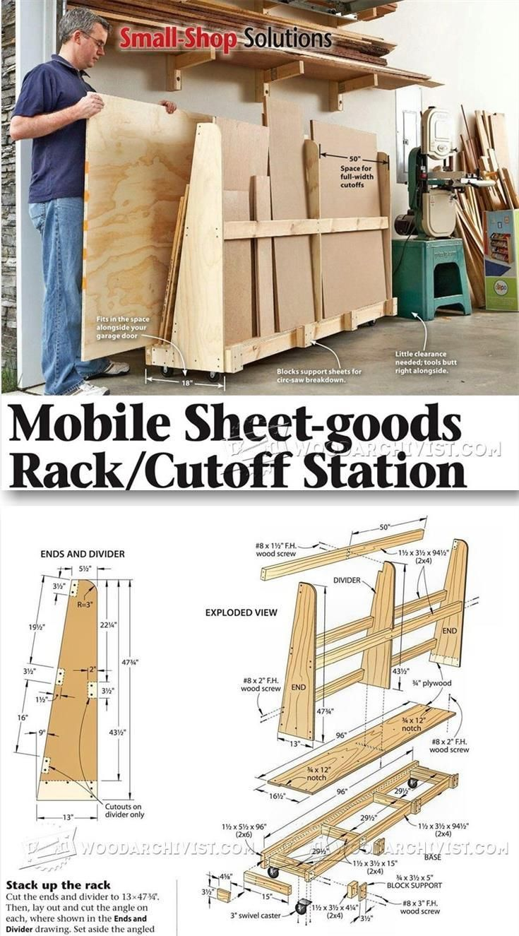 sheet storage rack plans - workshop solutions projects, tips