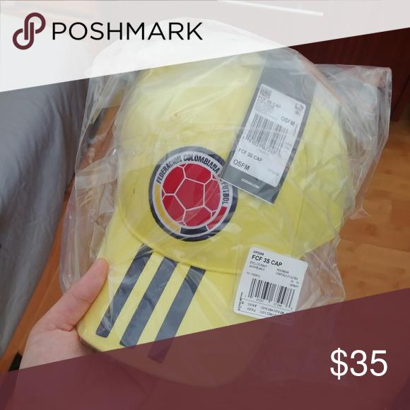 6dba5d35c8250 Adidas Colombia national Futbol soccer hat New Columbia adidas Accessories  Hats