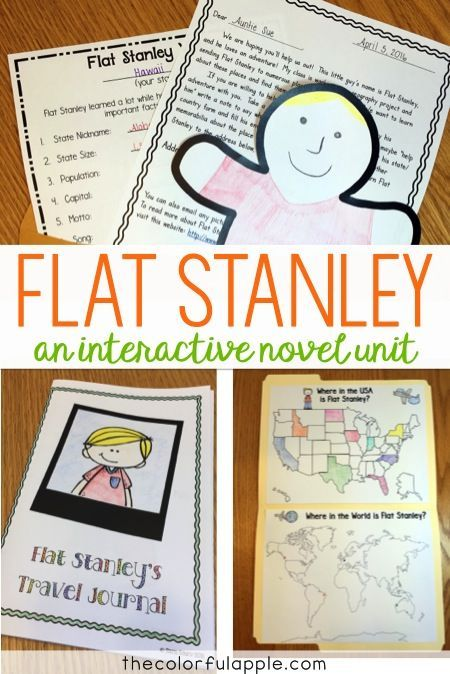 Flat Stanley A Novel Study  Project Educational Finds and