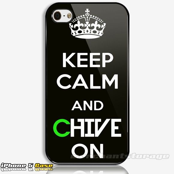 KCCO Keep Calm and Chive On Custom iPhone 5 Hard Case Cover