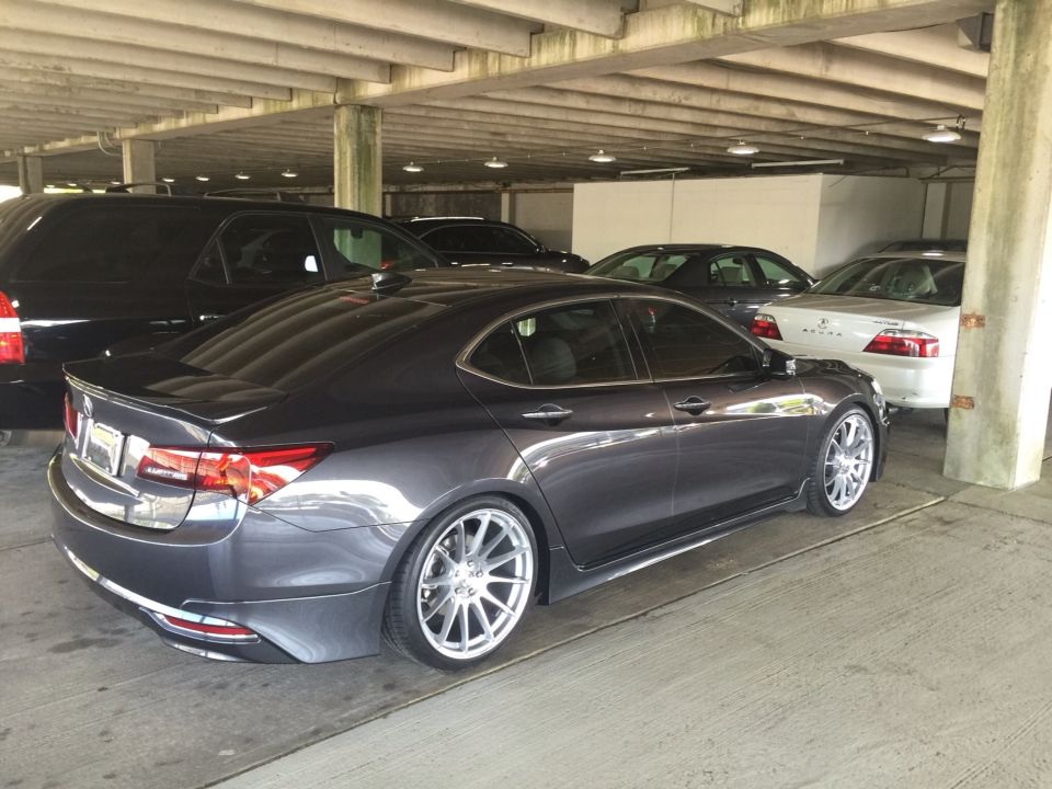 Acura TLX lowered and upgraded wheels. This was done right ...