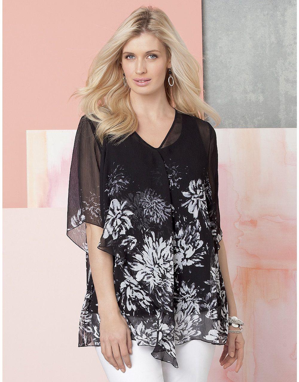 Blossom Blouse Catherines Beautiful Curves Fashion Jewelery