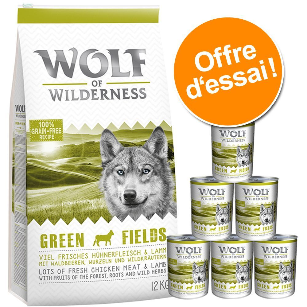 Animalerie Lot Decouverte Wolf Of Wilderness Pour Chien Lot Iii Nourriture Animaux Croquettes Animalerie
