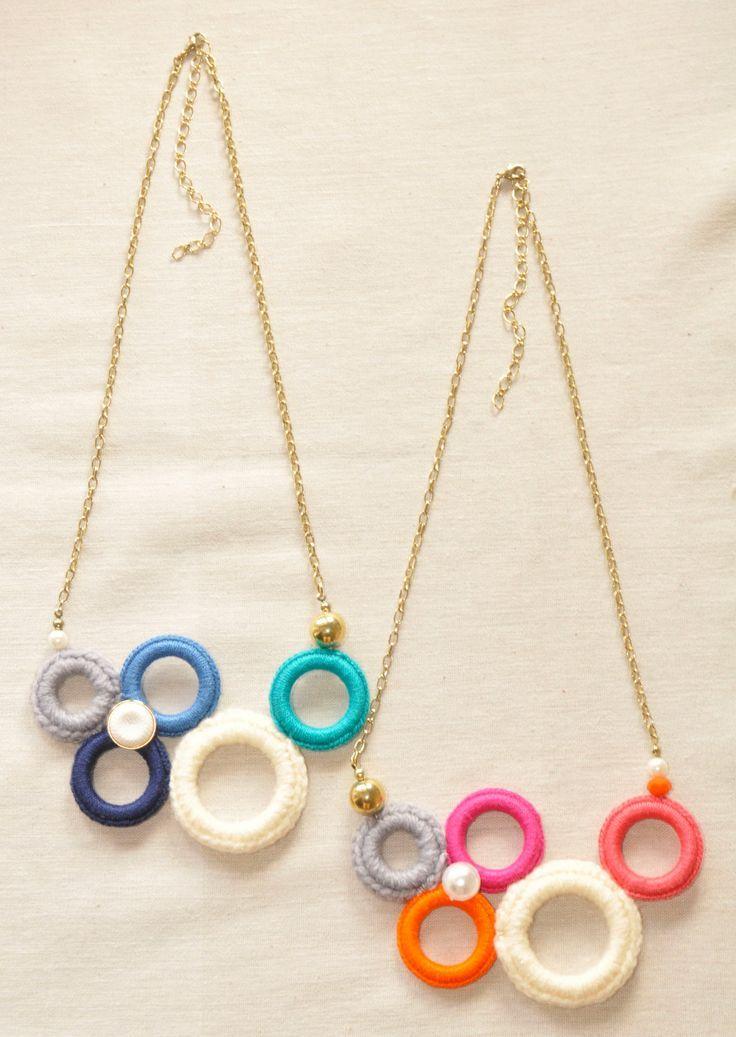 lindo collar crochet-otakulandia.es (40) | Collares | Pinterest ...
