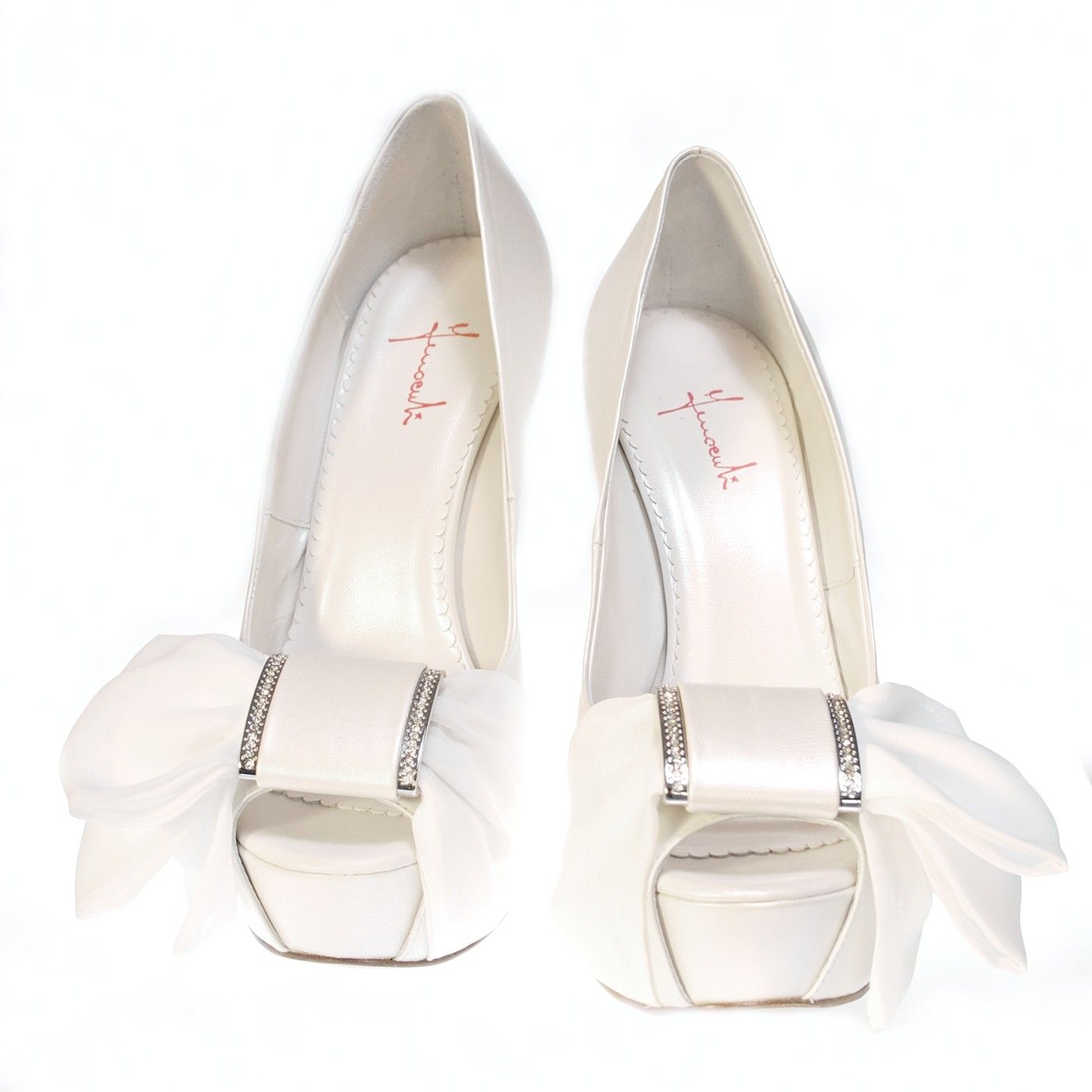 Scarpe Sposa Color Avorio.Platform Ivory Wedding Shoes With Bow Scarpe Sposa Avorio Con