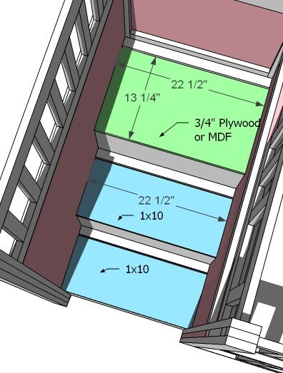 ana white | build a storage stairs for the playhouse loft bed