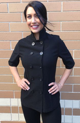 Women's Short Sleeve Chef Coat   women's chef wear   Pinterest ...