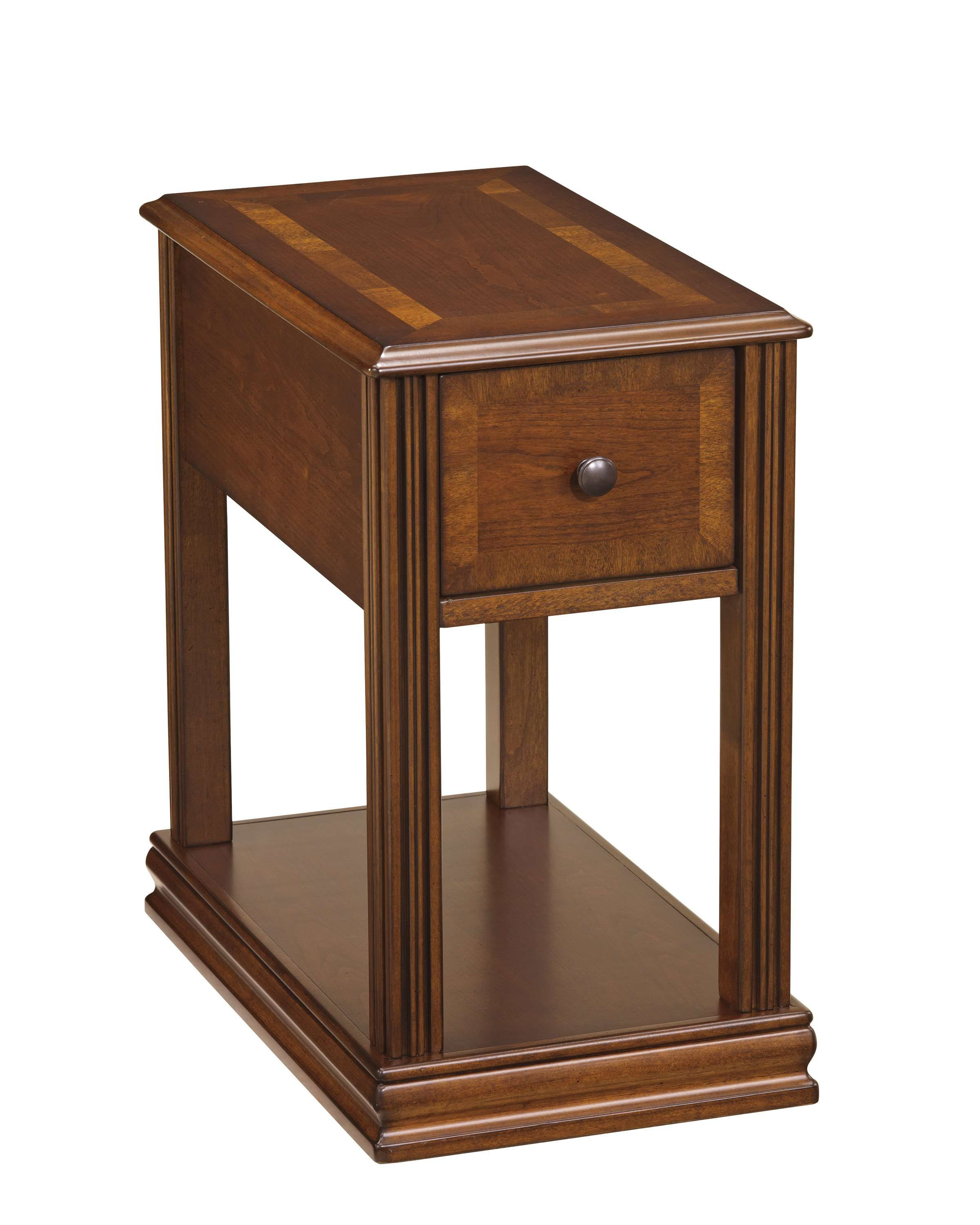 Signature Design By Ashley Breegin Brown Chair Side End Table Reviews Goedekers Com Ashley Furniture Living Room Chair Side Table End Tables
