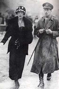 Agatha with husband Archie Christie during World War I