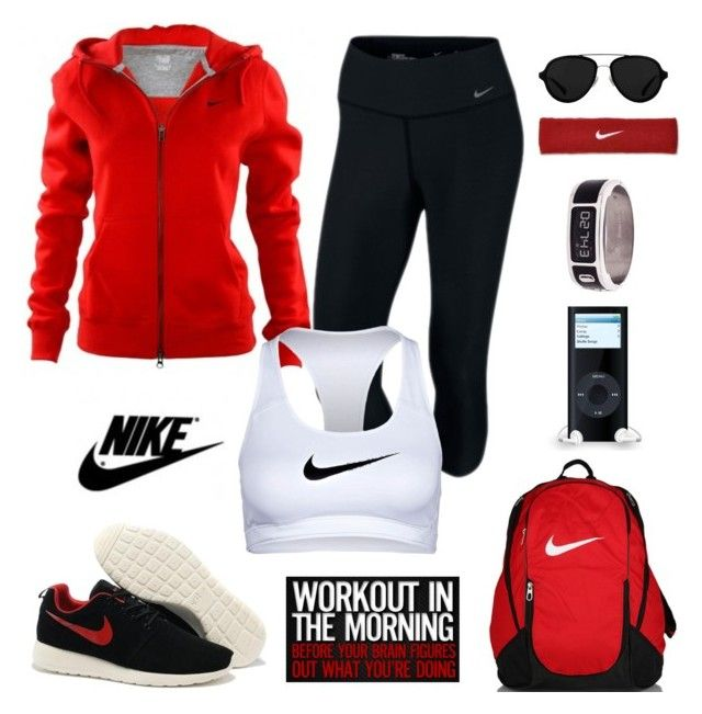 """""""nike apparel"""" by gallant81 ❤ liked on Polyvore featuring Garmin, 3.1 Phillip Lim and NIKE"""