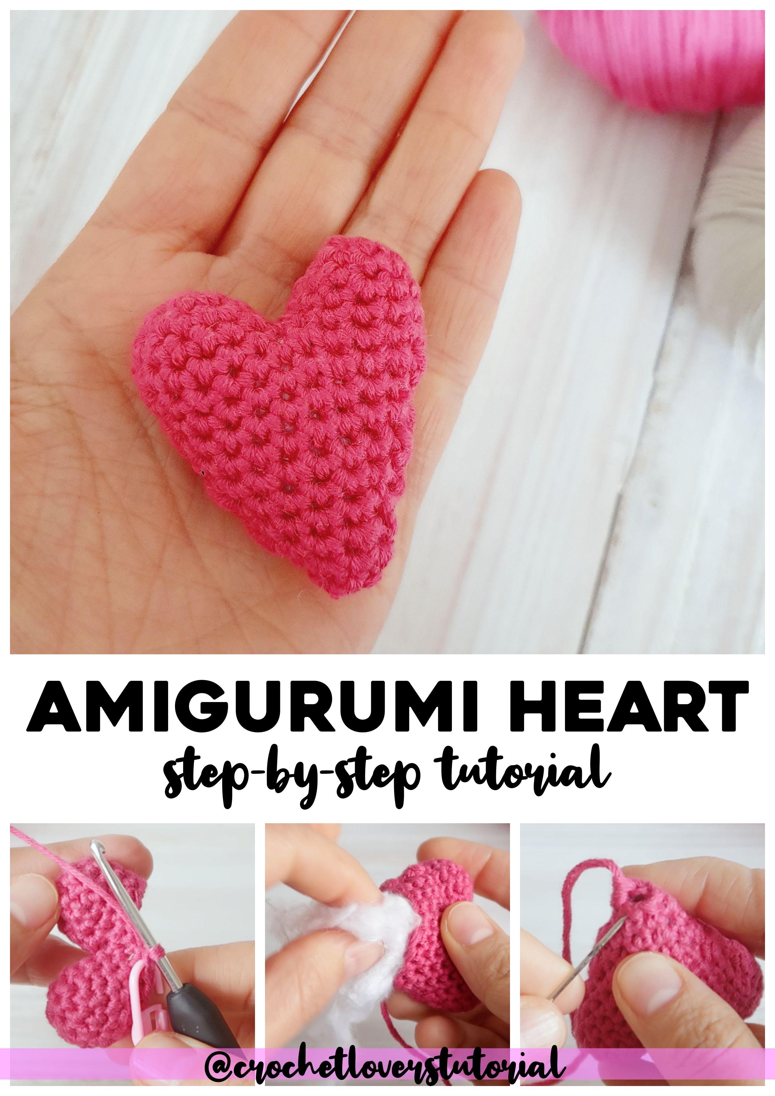 TUTORIAL CORAZON AMIGURUMI | Amigurumi patrones gratis, Amigurumi ... | 3508x2480
