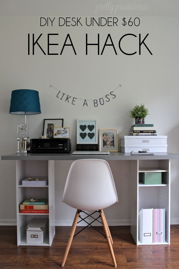 Easy Ikea Desk Hack Home Diy Apartment Decorating College Bedroom Home Decor