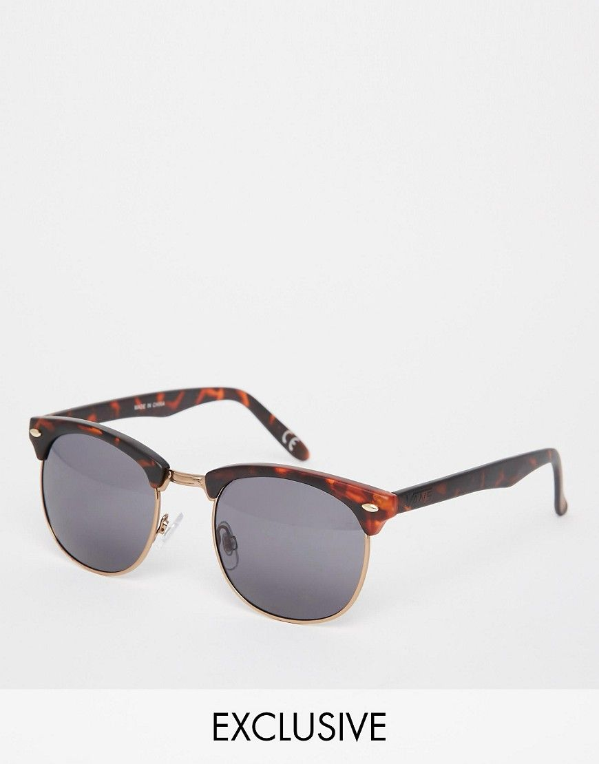 7664b9edd33 Sunglasses by Vans Tortoiseshell frames Adjustable silicone nose pads for  added comfort Dark tinted lenses Slim arms with curved temple tips for a  secure ...