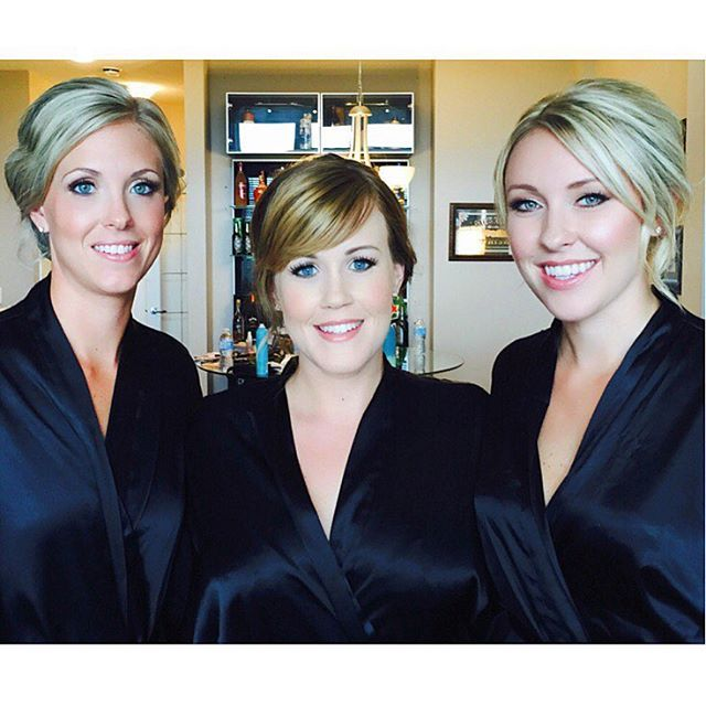 Great Vancouver Wedding Beautiful Bridesmaids At One Of Todays Weddings Makeup Hair By Lead