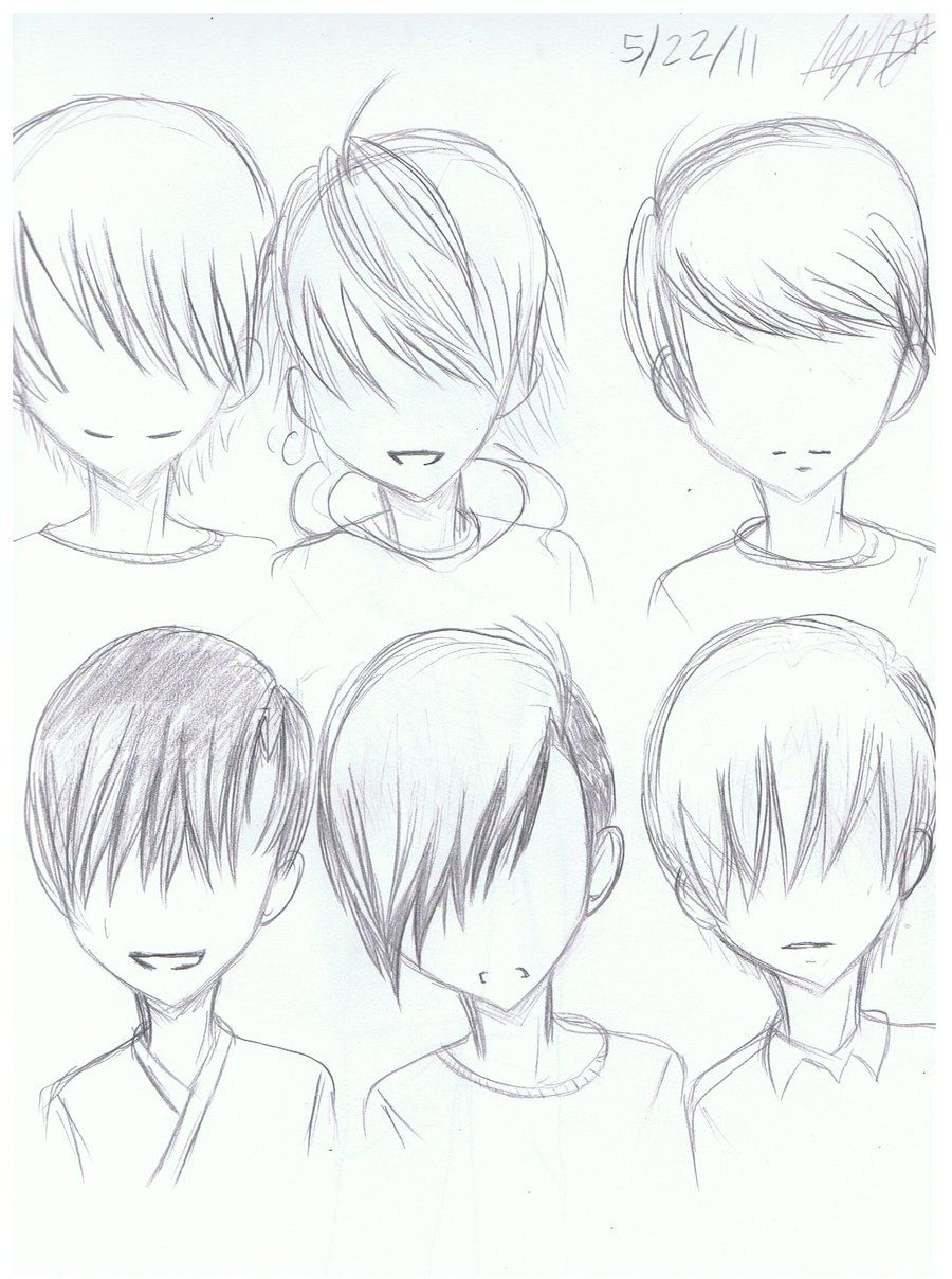 Anime guy hairstyle sketches http hairstylee com anime guy