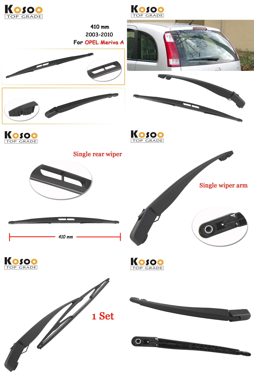 Visit To Buy Kosoo Auto Rear Car Wiper Blade For Opel Meriva A 410mm 2003 2010 Rear Window Windshield Wiper Blades Arm Car Wiper Opel Meriva Car Accessories