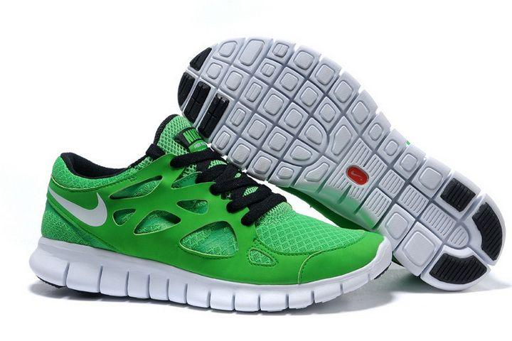 Chaussure Hommes Nike Free Run 2 Vert Noir Pas Cher pour vendre, acheter nike  free