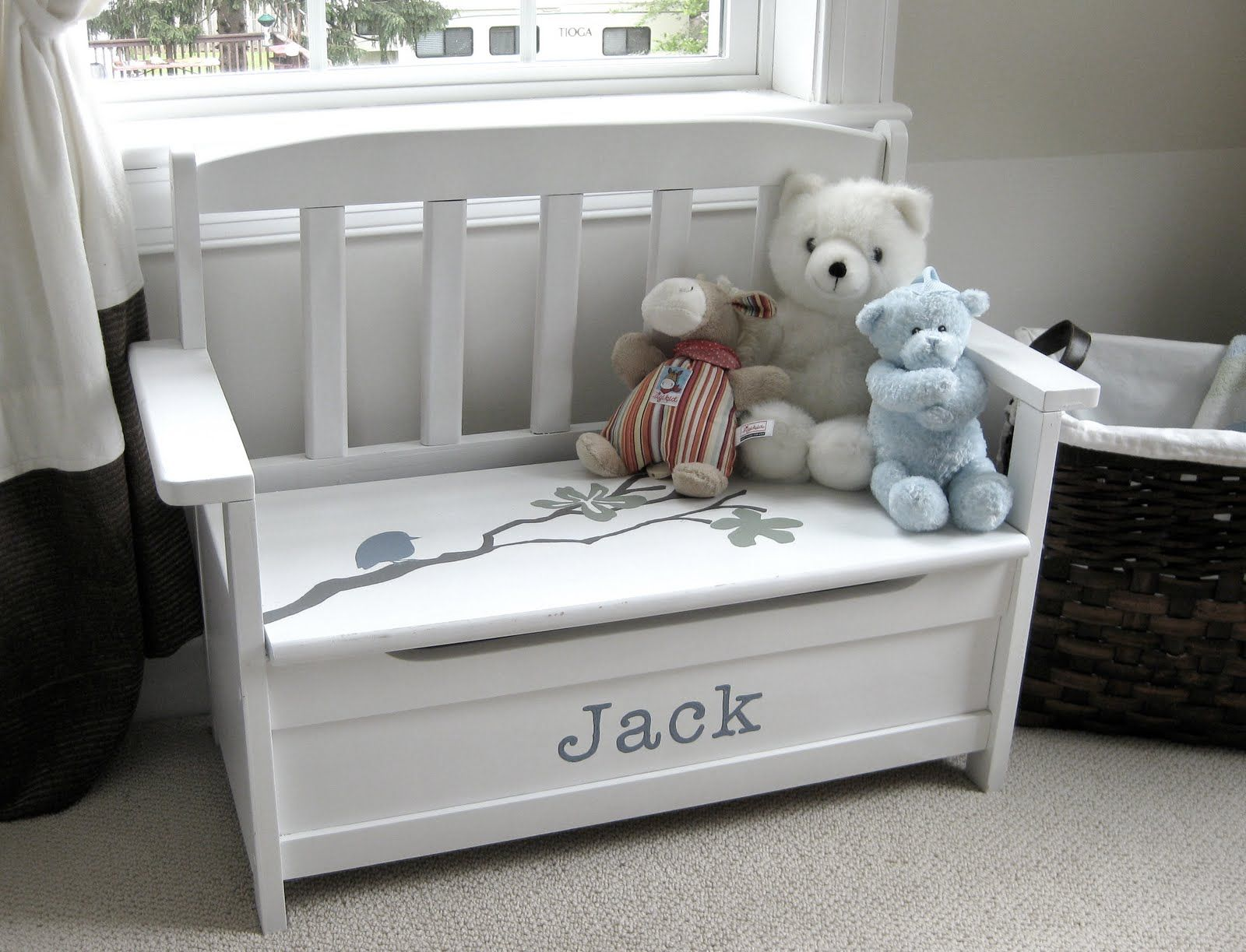 toy chest / bench seat Diy toy box, Kids toy boxes, Old