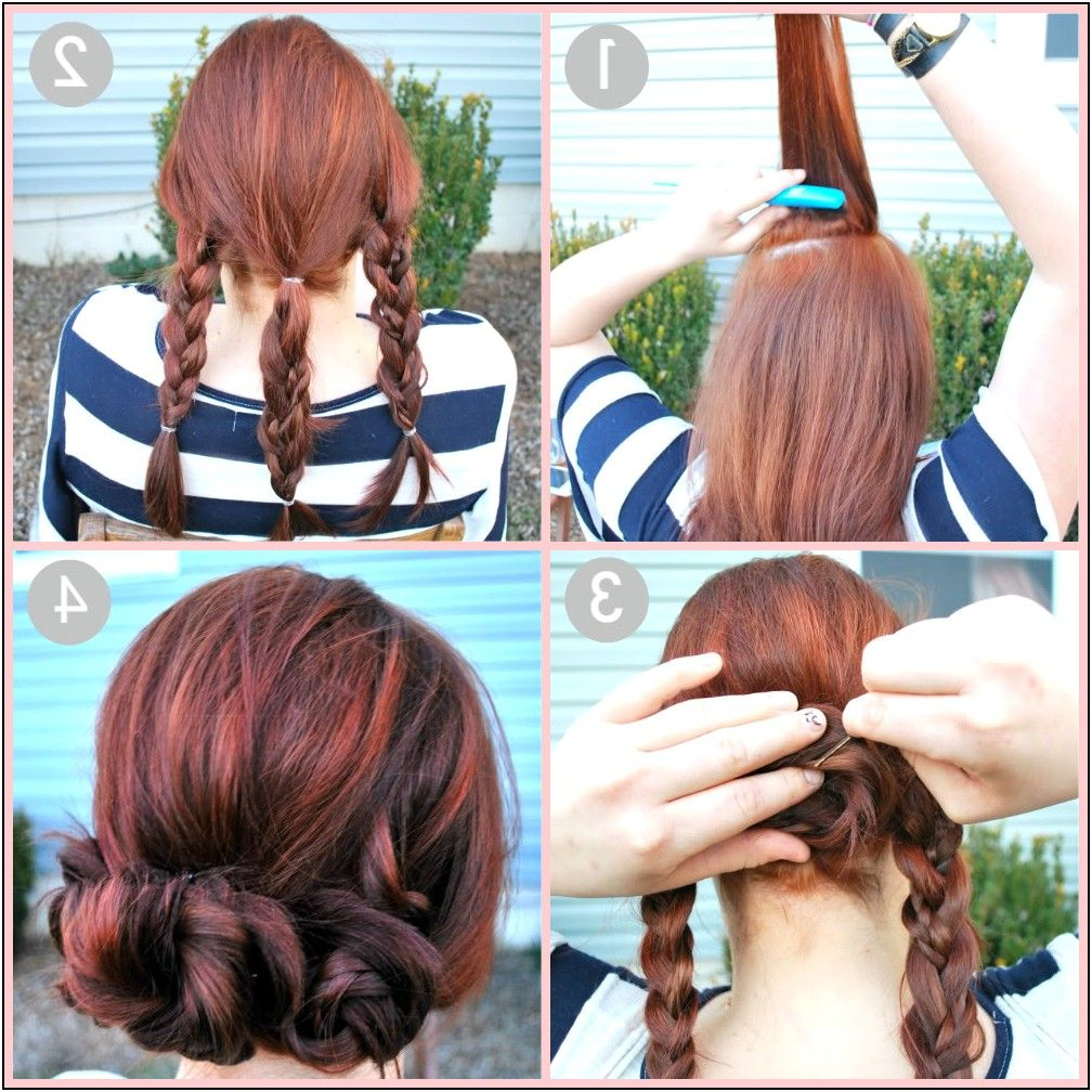 Quick And Easy Updo Hairstyles For Medium Length Hair
