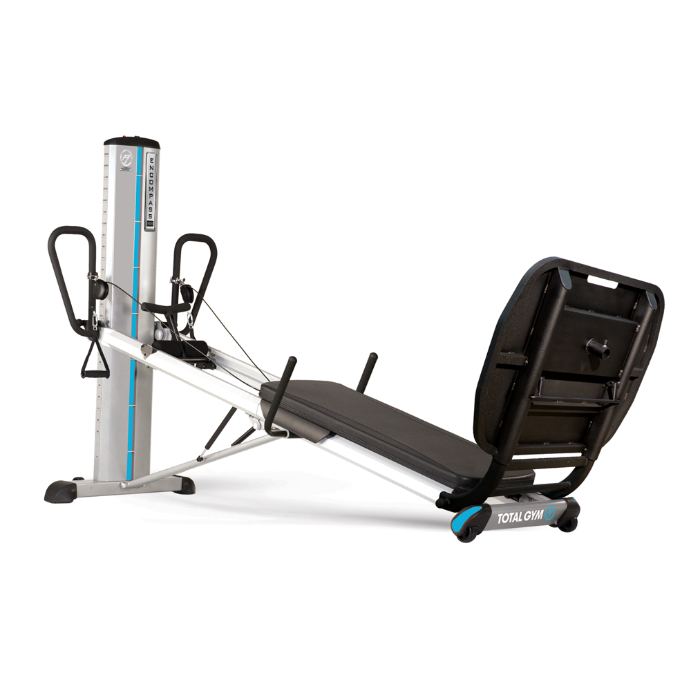 Commercially designed and manufactured for the rehabilitation clinic, the Total Gym Recovery Series Encompass PowerTower® allows for motorized incremental load changes during exercise at the push of a button while remote control handles allow touch-control level adjustments when exercising.