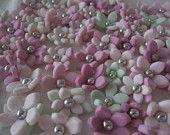 Pink 6-Lobed/Petal Flowers 3D