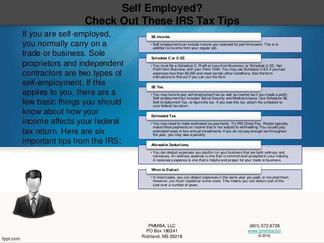 Self Employed Check Out These Irs Tax Tips  SelfEmployment Can