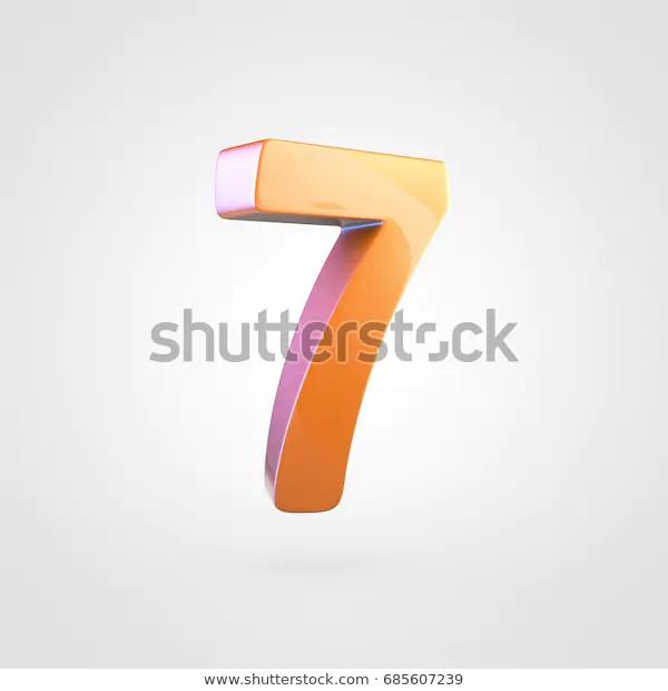 Glossy Orange Number 7 3d Render Stock Illustration 685607239 Orange Number Stock Illustration Illustration