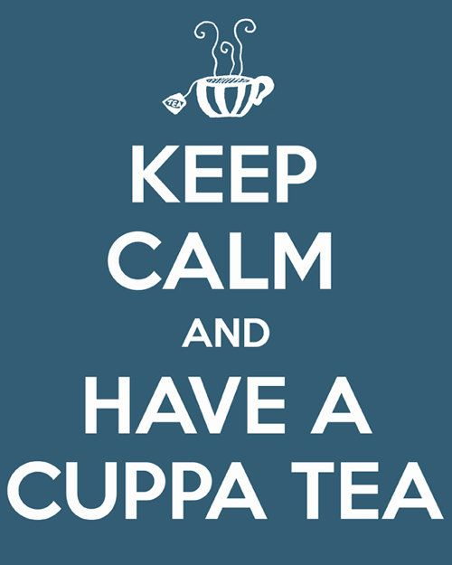 Keep calm and have a cuppa tea  quote art by RetroLovePhotography, $14.00