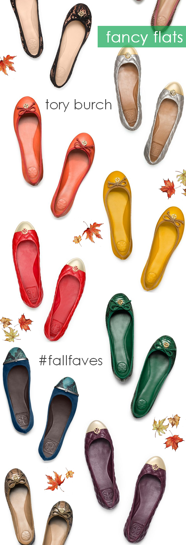 fancy flats #toryburch #fallfaves