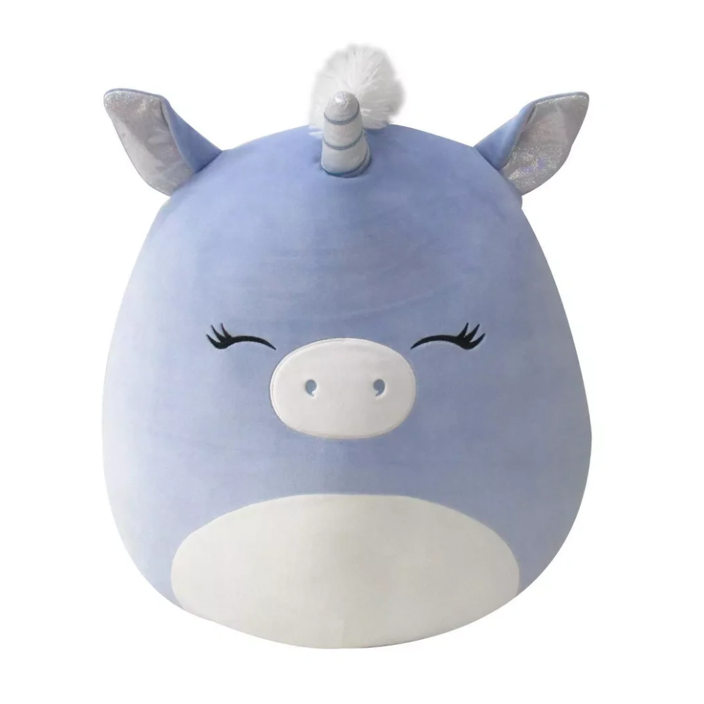 Anca The Unicorn Is A Blue Squishmallow Exclusive To Target Safety First Anca Is A Crossing Guard And Help In 2021 Unicorn Plush Cute Stuffed Animals Reflective Vest