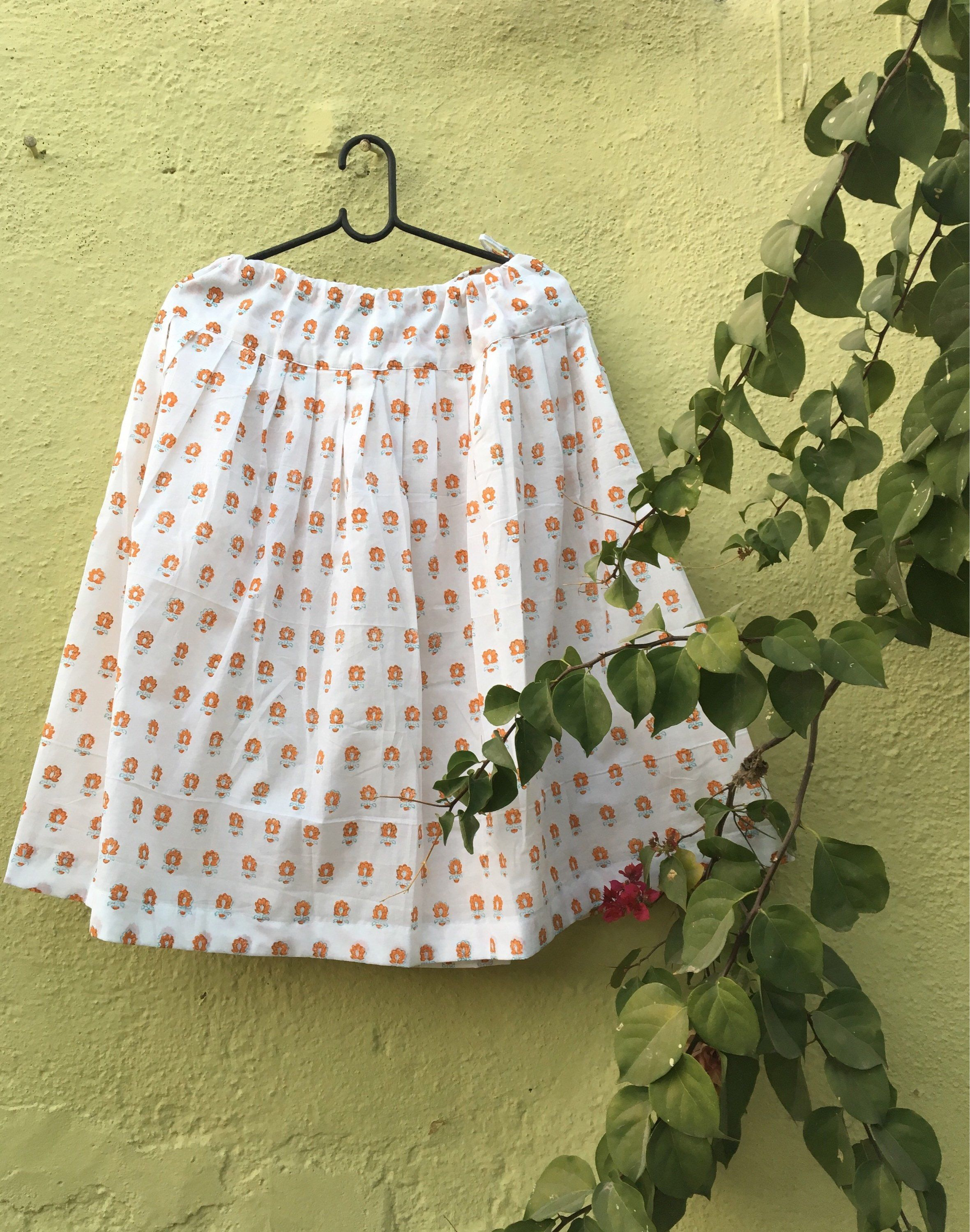 dca8fb9319 Indian Cotton Skirts Knee Length | Saddha