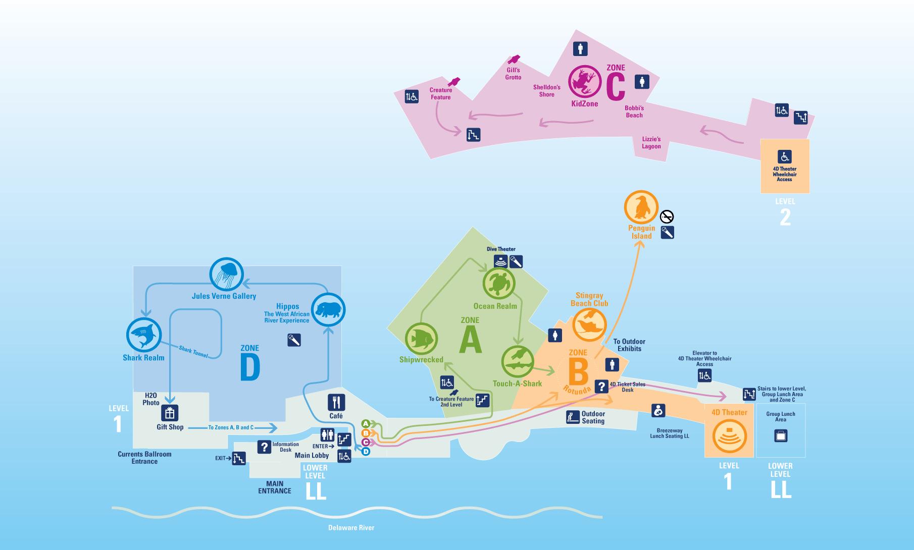 Interactive Map Adventure Aquarium Camden, NJ