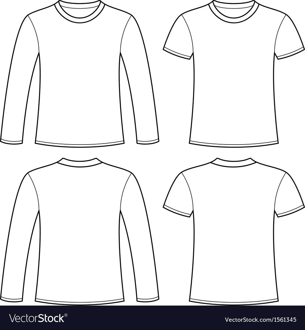 Download Long Sleeved T Shirt And T Shirt Template Vector Image Ad Shirt Sleeved Long Image Ad T Shirt Design Template Fashion Design Template Shirt Sketch