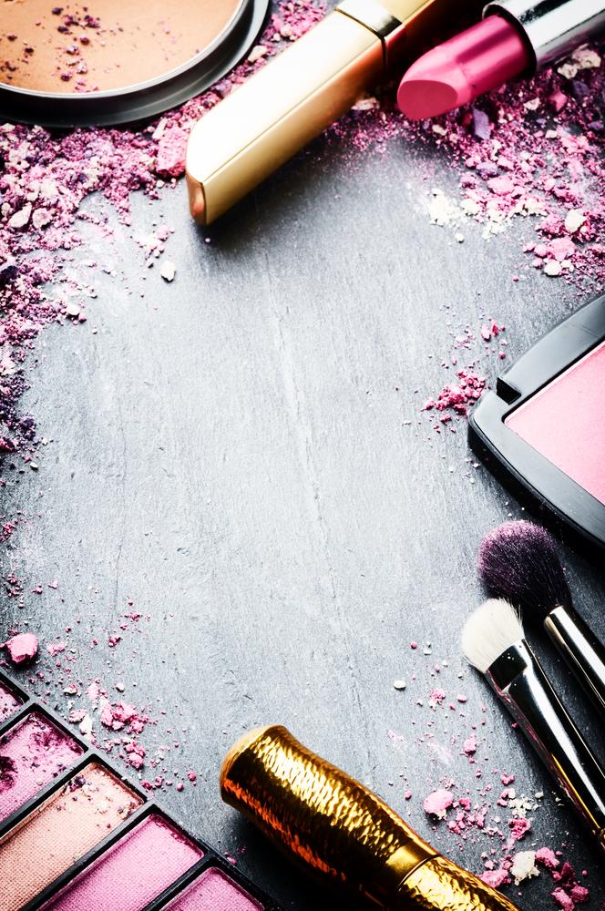 Frame Various Makeup Products Pink Tone Makeup Illustration Makeup Wallpapers Makeup Backgrounds