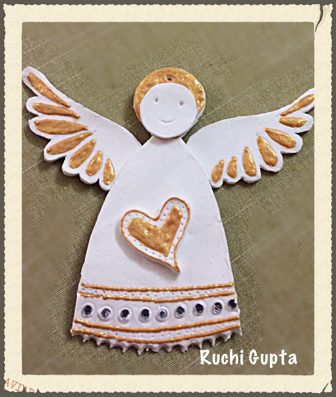 Air Dry Clay Angel Ornament Clay Projects Clay Angel Crafts