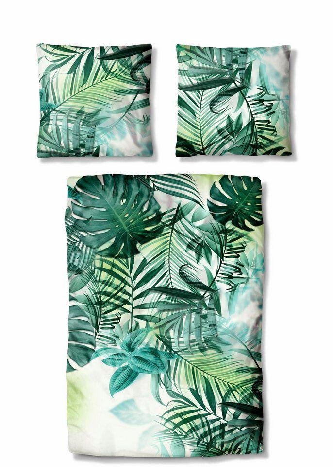 Bettwäsche Auro Hometextile Dschungel Mit Floralen Muster In