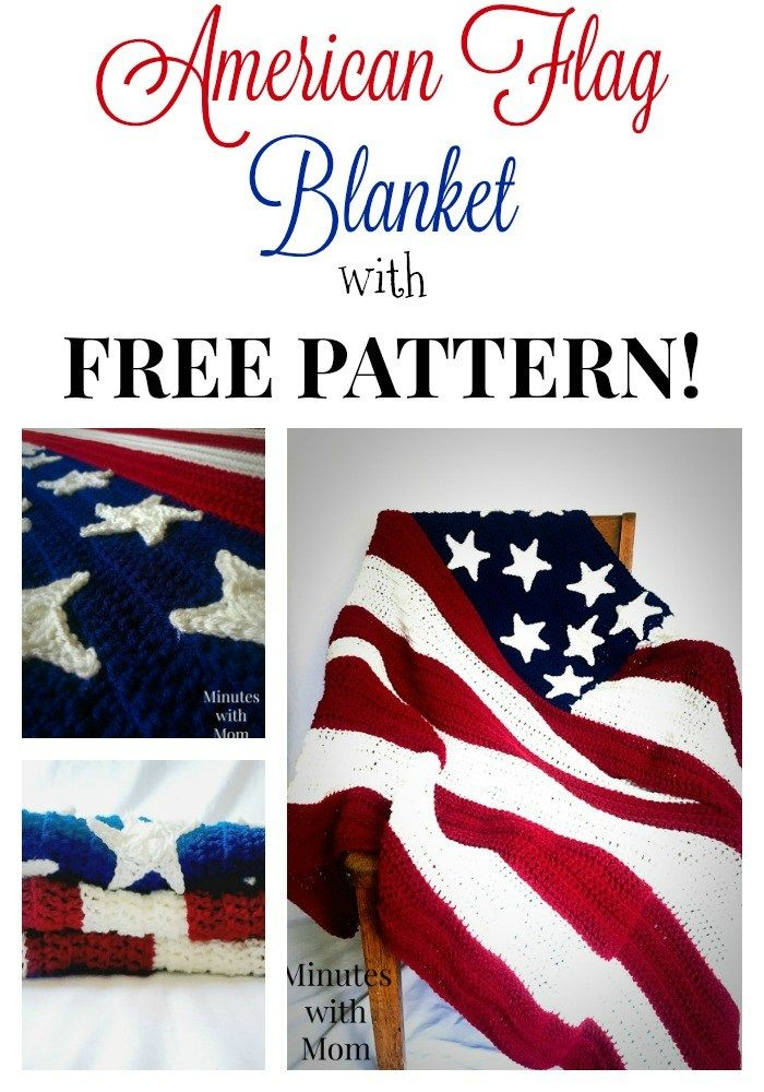America Flag Crochet Blanket with FREE Pattern | Manta, Colchas y Tejido