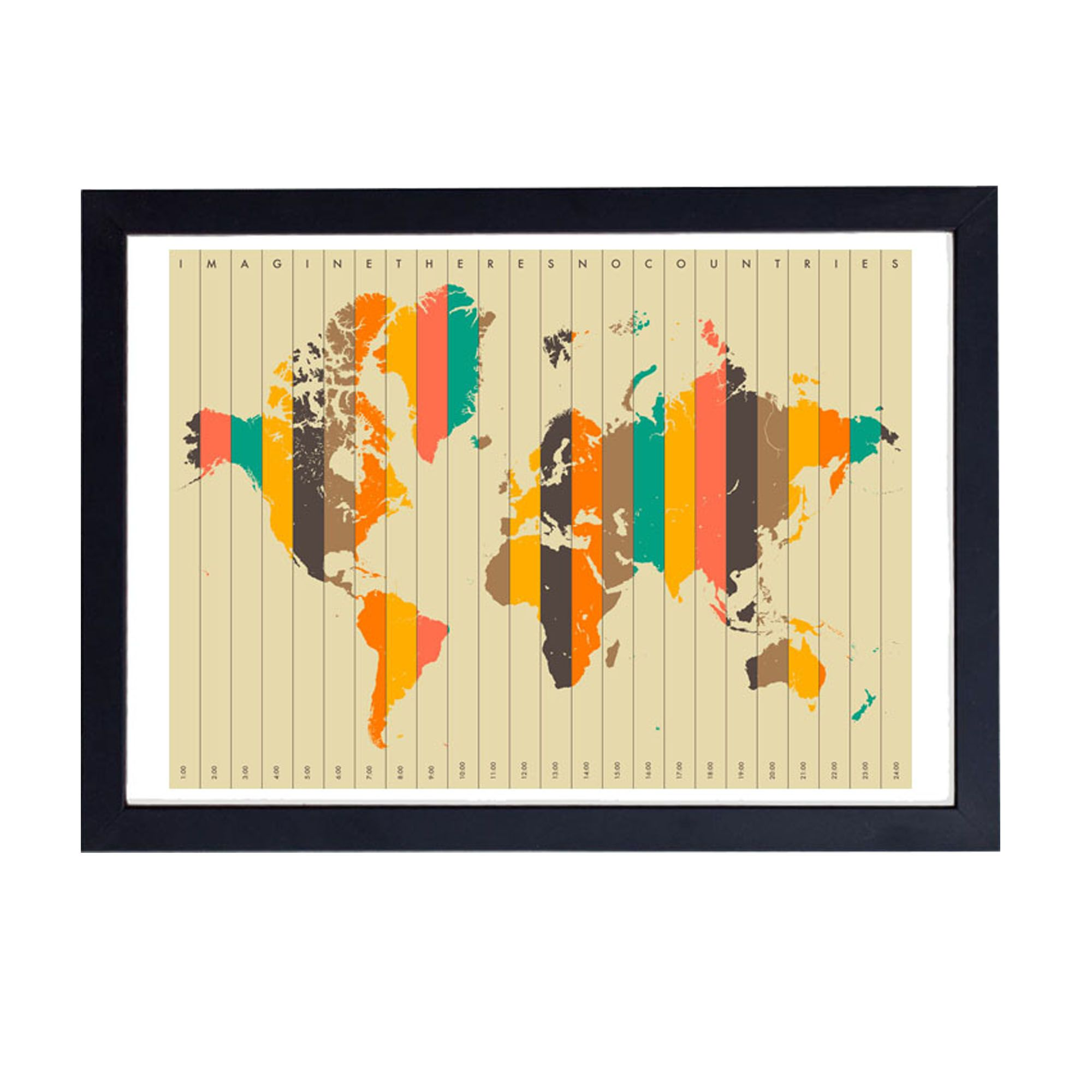 Buy Imagine There\'s No Countries by Jazzberry Blue Wall Art from ...