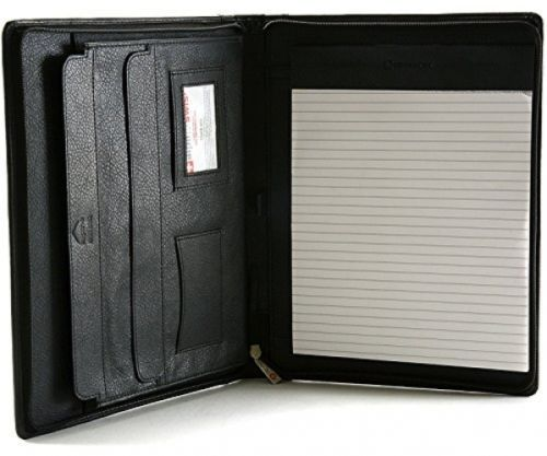 Alpine Swiss Genuine Leather Writing Pad Portfolio Business Case For Left and