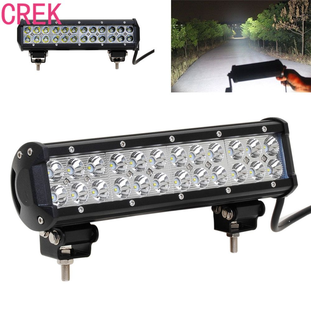 12 Inch 72w Led Light Bar For Atv 4x4 Offroad 18w Work Trucks 4wd Auto Drl 12v Focos Off Road Motorcycle 36w Barra Light 18w Off Road Led Light Led Lamp 12 Inch
