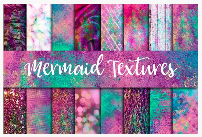 Printed Htv Vinyl Mermaid Textures Patterned Vinyl 12 X 12 Etsy Digital Paper Design Elements Design Bundles