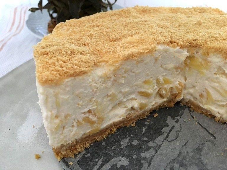 Tarta de piña y queso