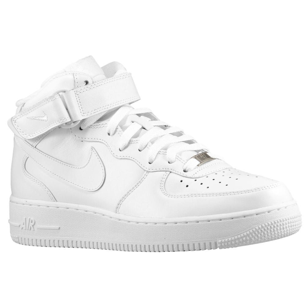 Nike Air Force 1 Mi Cantines Blanches pour pas cher FkvOdhUlVB