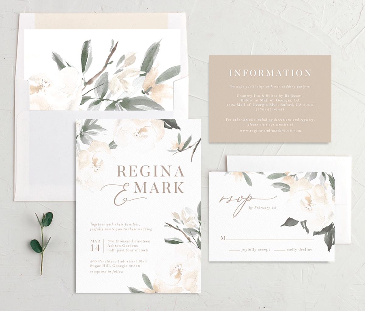 Elegant Garden Wedding Stationery Suite Garden Wedding Invitations Botanical Wedding Invitations Wedding Invitations